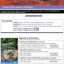 costruisci la tua vacanza in AUSTRALIA
